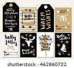 merry christmas and happy new... | Shutterstock .eps vector #462860722