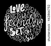 vintage font for frendship... | Shutterstock .eps vector #462866752