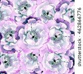 dog rose. seamless background.... | Shutterstock . vector #462866776