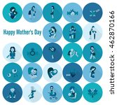 happy mothers day simple flat... | Shutterstock .eps vector #462870166