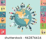 school education in the world... | Shutterstock .eps vector #462876616