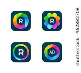 set of bright app icons  6