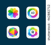 set of bright app icons  5
