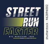 run marathon sport typography ... | Shutterstock .eps vector #462896002