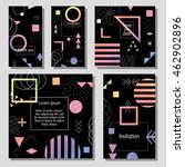 set of artistic colorful... | Shutterstock .eps vector #462902896