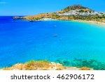 scenic rhodes island  lindos... | Shutterstock . vector #462906172