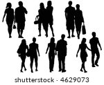 shopping couples | Shutterstock . vector #4629073