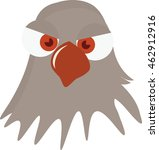 Hawk Vector. or. Dove with surprised face. Illustration in cartoon style. Ready for package design, icon, logo design and others. Vector image of cartoon dove. Funny pigeon. Surprised professional. - stock vector