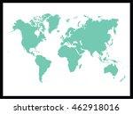 world map | Shutterstock .eps vector #462918016