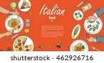 cooking banner template with... | Shutterstock . vector #462926716