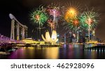 firework in singapore national... | Shutterstock . vector #462928096
