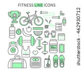 fitness and sport thin line