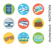 travel flat icons. isolated on... | Shutterstock . vector #462937606