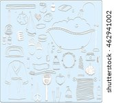 set of hand drawn vector icons. ... | Shutterstock .eps vector #462941002
