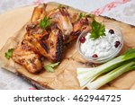 chicken wings with sauce | Shutterstock . vector #462944725