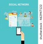 social network vector concept.... | Shutterstock .eps vector #462947122