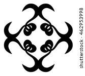 tribal pattern tattoo vector... | Shutterstock .eps vector #462953998