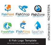 fish logo template design vector | Shutterstock .eps vector #462955096
