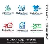 digital logo template design... | Shutterstock .eps vector #462955216