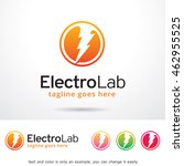 electro lab logo template... | Shutterstock .eps vector #462955525