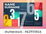 modern cv resume template.... | Shutterstock .eps vector #462955816