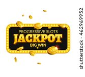 jackpot casino lotto label... | Shutterstock .eps vector #462969952