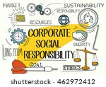 corporate social responsibility ... | Shutterstock .eps vector #462972412
