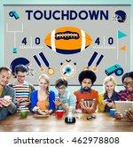 touchdown american football... | Shutterstock . vector #462978808