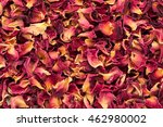 Stock photo organic dry rose damask petals rosa damascena macro close up background texture top view 462980002