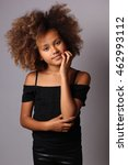 beautiful young afro girl | Shutterstock . vector #462993112