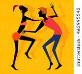 isolated vector eps art. salsa .... | Shutterstock .eps vector #462995542