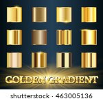 Vector set of gold gradients.