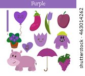 purple. learn the color.... | Shutterstock .eps vector #463014262