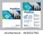 blue brochure layout design... | Shutterstock .eps vector #463022782