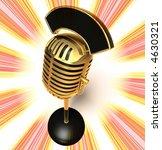 3d generated microphone | Shutterstock . vector #4630321