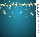 gold confetti celebration | Shutterstock .eps vector #463032292