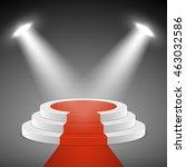spotlights illuminate stage... | Shutterstock .eps vector #463032586