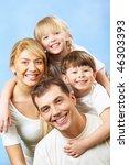 portrait of family members... | Shutterstock . vector #46303393