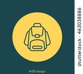 web line icon. knapsack   Shutterstock .eps vector #463038886