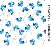 watercolor vintage floral... | Shutterstock . vector #463039375