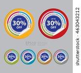 vector   sale up to 30  off... | Shutterstock .eps vector #463043212