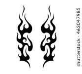 flame tattoo tribal vector... | Shutterstock .eps vector #463047985