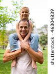 smiling father giving his... | Shutterstock . vector #46304839