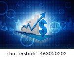 3d rendering business graph...   Shutterstock . vector #463050202