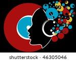vector beautiful retro party... | Shutterstock .eps vector #46305046