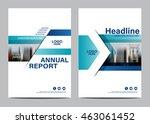 blue brochure layout design... | Shutterstock .eps vector #463061452