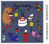 birthday collection | Shutterstock .eps vector #463065322