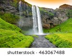 seljandsfoss waterfall  iceland   Shutterstock . vector #463067488