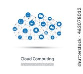 cloud computing  iot  iiot ... | Shutterstock .eps vector #463078012