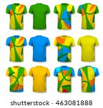 colorful abstract male t shirts.... | Shutterstock .eps vector #463081888